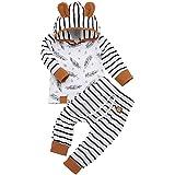 BBSMILN Ropa Bebe Niña Niño Otoño Invierno 0 a 3 6 12 18 24 Meses de Recién Nacido - Pluma Sudadera con Capucha de Manga…