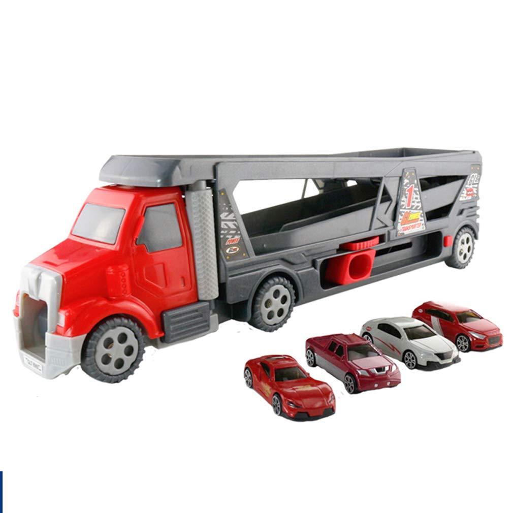 Modèle de voiture voiture voiture en Alliage conteneur pour  s Jouet Camion Jouet garçon Grand Camion Ensemble Voiture de Stockage Portable fedc3d