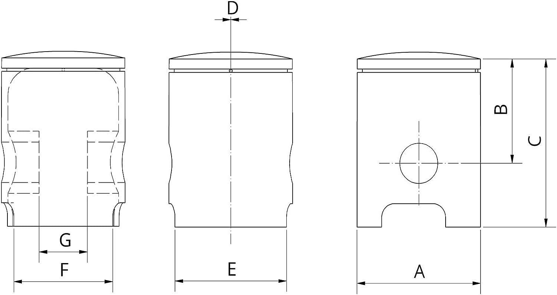 ZT-Tuning ZT-Kolben /Ø38,72 1-Ring SR50 f/ür Simson S51 KR51//2 Schwalbe