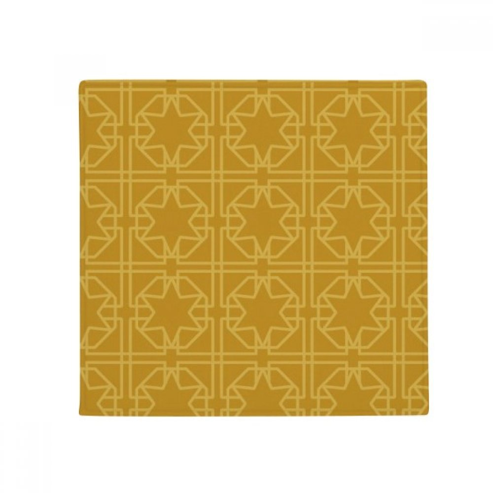 DIYthinker Thailand golden Weaving Decorative Pattern Anti-Slip Floor Pet Mat Square Home Kitchen Door 80Cm Gift