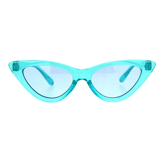 Girl's Trendy Fashion Sunglasses Kid's Cute Cateye Frame Translucent Colors by Pastl