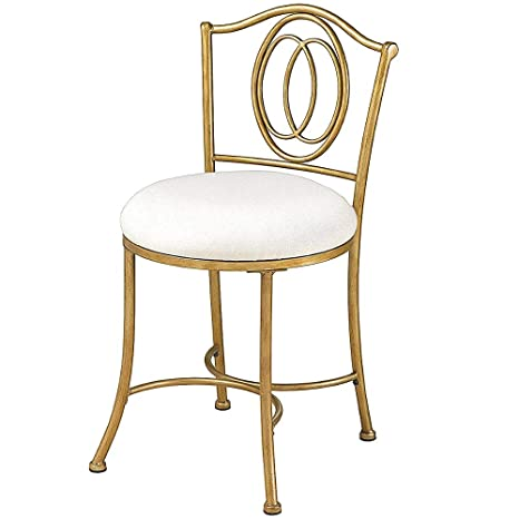 Super Amazon Com Gold Vanity Chair With Back Upholstered Stool Ibusinesslaw Wood Chair Design Ideas Ibusinesslaworg