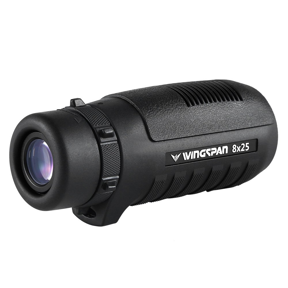 Wingspan Optics HawkEye 8X25 Wide View Compact Monocular Delivers Bright, Clear, Laser Sharp Images in an Ultra-Rugged Waterproof, Fog Proof, Shock Proof Exterior Armor