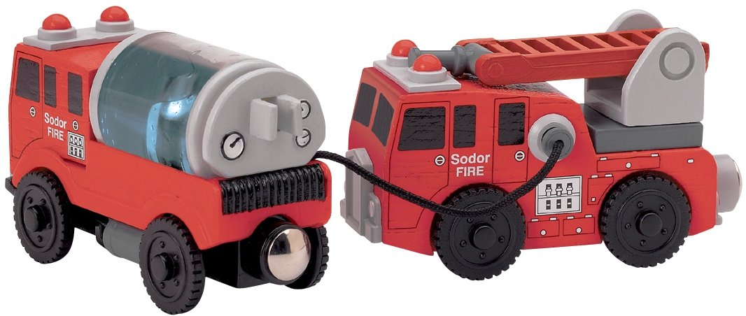 Learning Curve Thomas And Friends Wooden Railway - Fire Crew TOMY LC99148