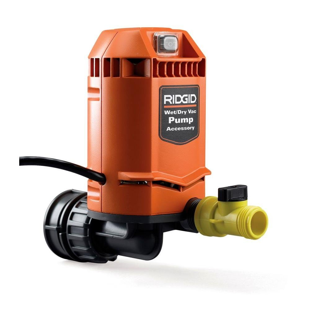 Ridgid VP2000 Genuine OEM 5/8 Inch Quick Connect Pump Accessory for Wet / Dry Vacuums by Ridgid