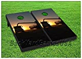FARMING Cornhole Boards BEANBAG TOSS GAME w Bags Country Farm Agriculture S 245