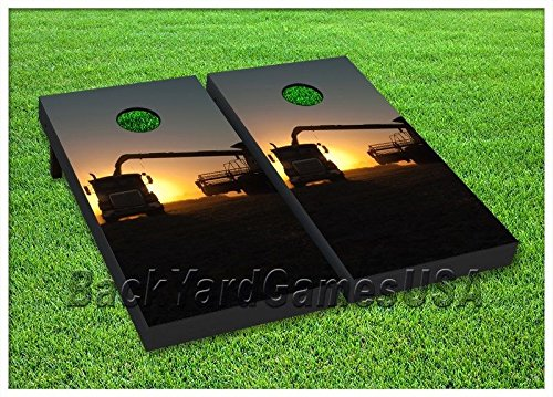 FARMING Cornhole Boards BEANBAG TOSS GAME w Bags Country Farm Agriculture S 245 by BackYardGamesUSA (Image #1)