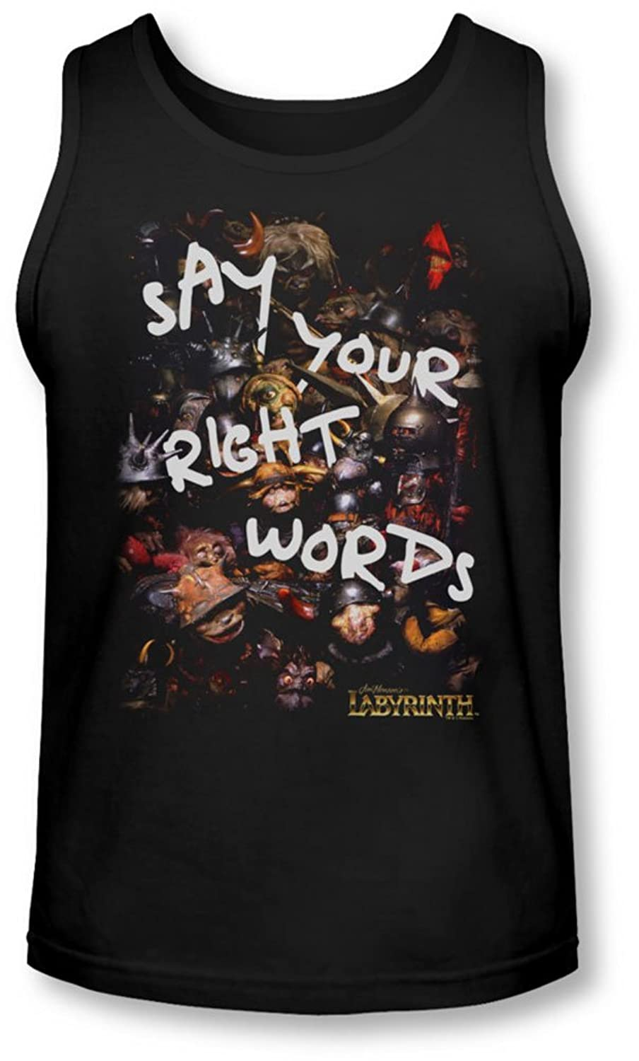 Labyrinth - Mens Right Words Tank-Top