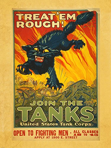 Treat Em Rough Join the Tanks Art Print, 18 x 24 inches Rough Tank