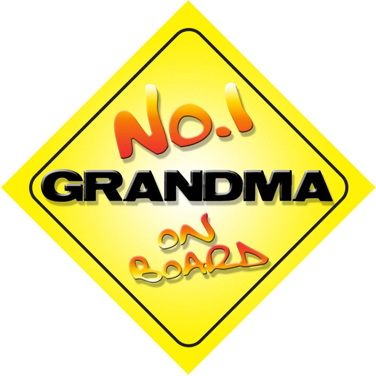 No.1 Grandma on Board Novelty Car Sign Novelty Gift / Present Quality Goods Ltd