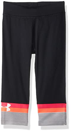 368a3ff8bf74e9 Amazon.com: Under Armour Studio Capri Little Girls' Core Active ...