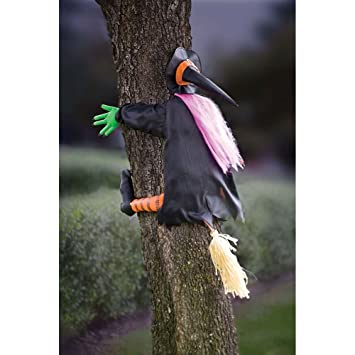 betty bash crashing witch into tree halloween decoration - Halloween Witch Decoration