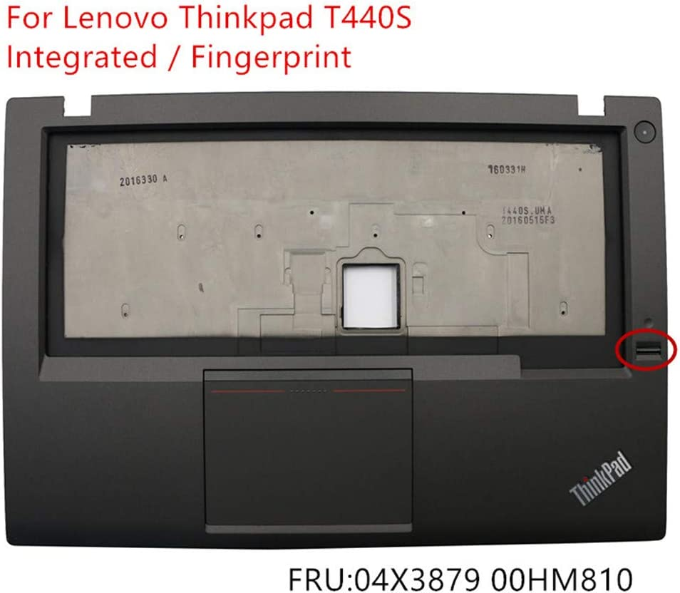 New Replacement for Lenovo Thinkpad T440S Palmrest Upper Case Keyboard Bezel Cover Touchpad Fingerprint Power Button Board 04X3879 00HM810