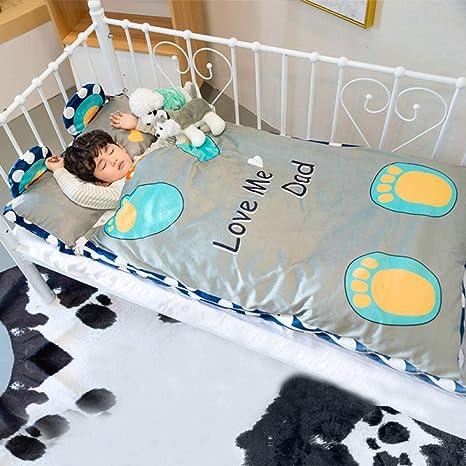 Bebé bebé saco de dormir edredón antideslizante algodón cálido 0-6 años-F_75 * 145cm bebé sacos de dormir para niños: Amazon.es: Bebé