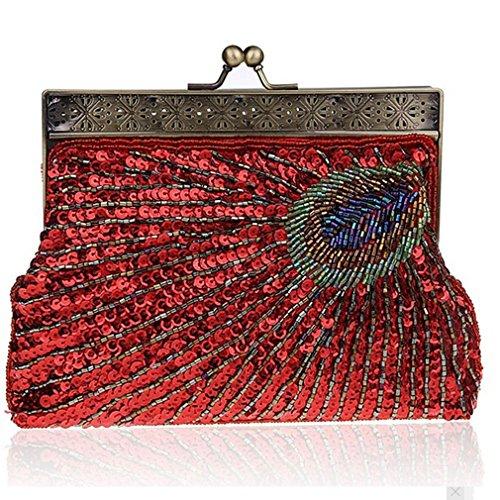 Clutch Black Red Belsen black Belsen Women's Women's Clutch IUgX7xqIwO