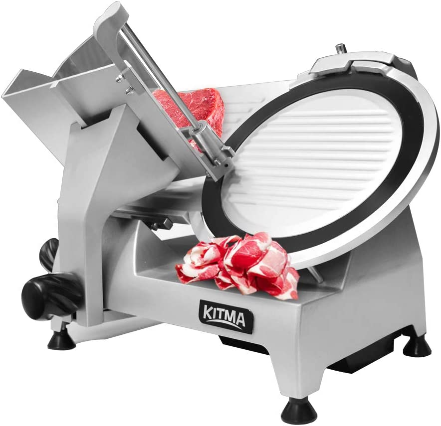 Premium Commercial Meat Slicer - KITMA Stainless Steel Electric Cheese Deli Food Slicer with 10'' Blade
