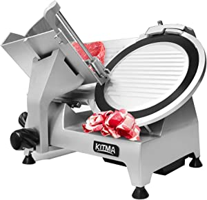 Commercial Meat Slicer - KITMA Stainless Steel Electric Cheese Deli Food Slicer with 12'' Blade