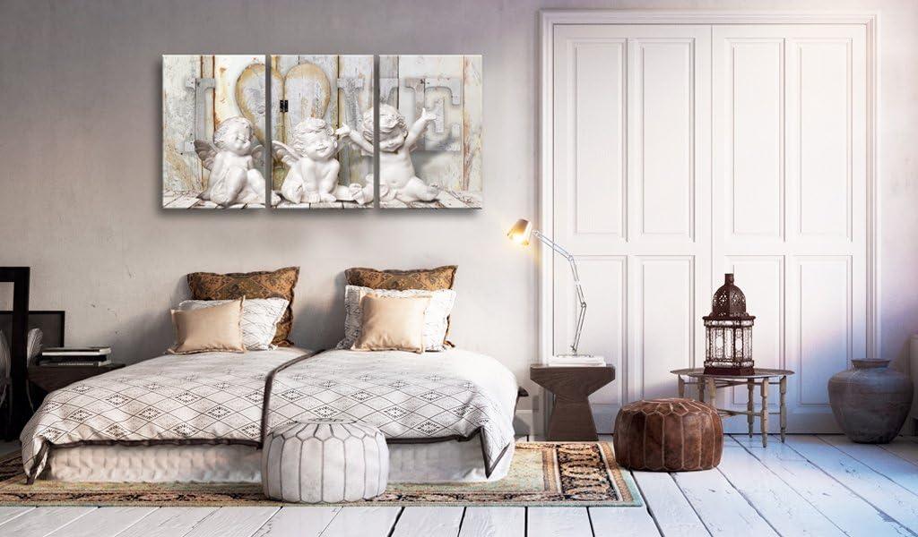 B/&D XXL murando Impression sur Toile intissee 60x30 cm Image sur Toile 3 Pieces Tableau Tableaux Decoration Murale Photo Image Artistique Photographie Graphique Ange Abstraction Abstrait h-C-0045-b-e