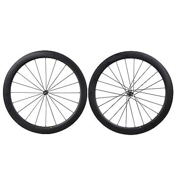 700C 55mm Carbono Carretera Bicicleta Ruedas Clincher Tubeless Ready Novatec Buje: Amazon.es: Deportes y aire libre