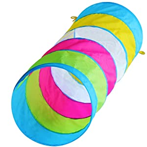 Hide N Side Kids 6ft Crawl Through Play Tunnel Toy, Pop up Tunnel for Kids Toddlers Babies Infants & Children Gift Indoor & Outdoor Tube