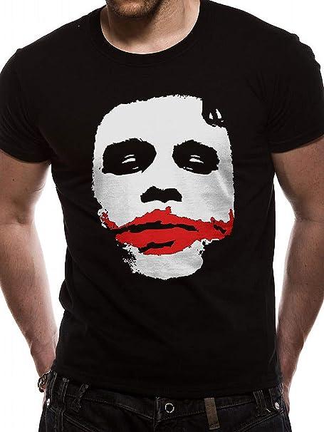 Absolute Cult The Dark Knight Hombre Joker Face Camiseta: Amazon.es: Ropa y accesorios