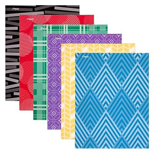 Mead 2 Pocket Folders, Paper Pocket Folders, Assorted Designs, 12 Pack (38214)