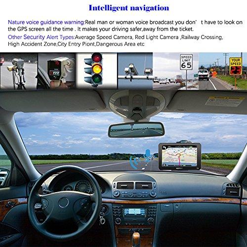 Xgody 715/Truck Syst/ème de Navigation GPS pour Voiture 17,8/cm /Écran Tactile capacitif 8/Go de ROM GPS Navigator avec cartographie /à Vie mises /à Jour D/étaill/ées /Étape par /Étape