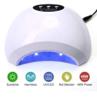NATPLUS Nail Dryer 48W UV LED Nail Curing Lamp Light for Soak Off Nail Gel Lamp Manicure Pedicure Dryer with Sensor High Speed