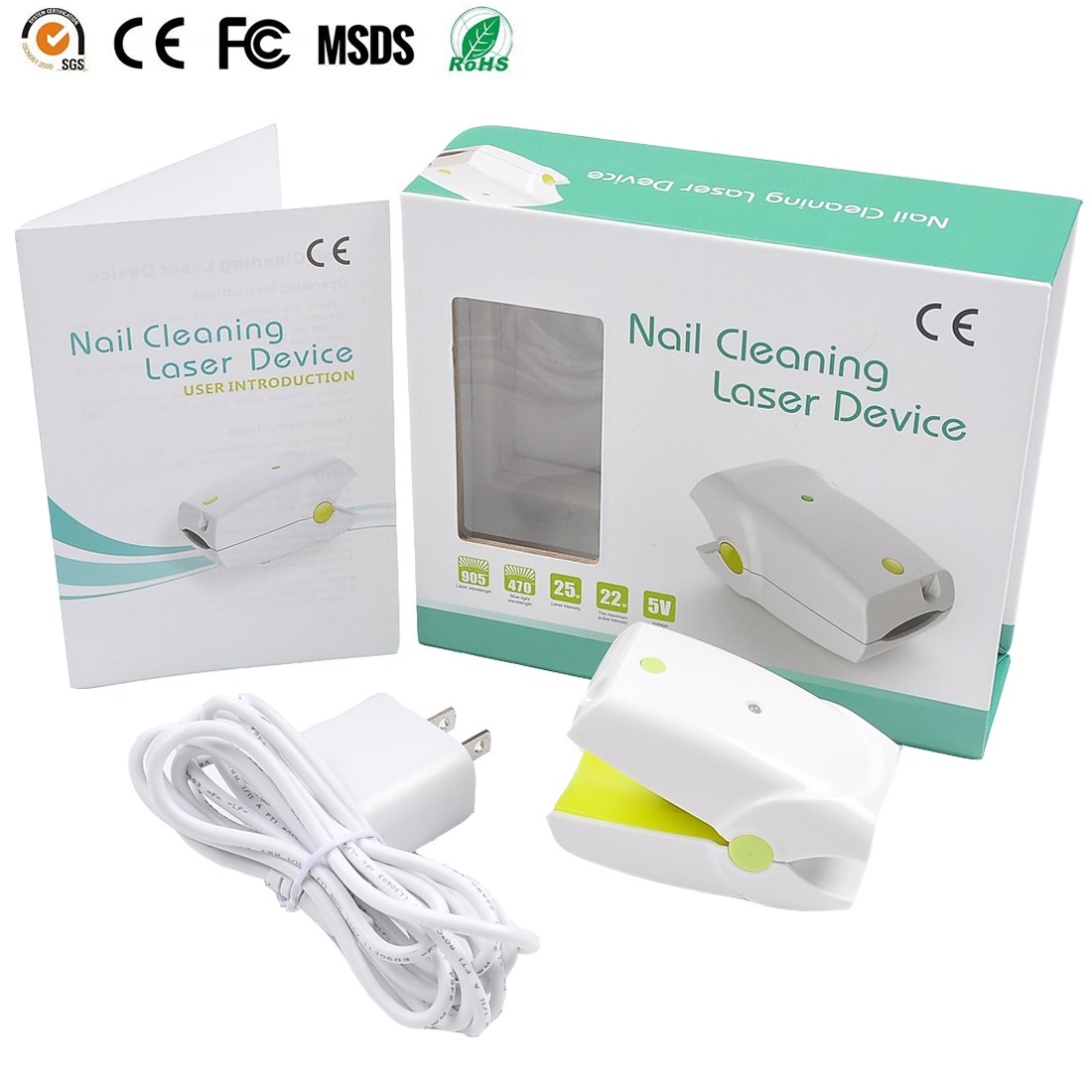Nail Cleaning Laser Device Professional Safe, Quick and Painless Nail Fungus Treatment For Toe And Finger Nails To Use At-Home No Side Effects