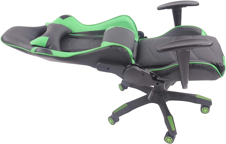 CLP Racing B/ürostuhl Miracle V2 mit Kunstlederbezug H/öhenverstellbarer Gamingstuhl mit Leichtlaufrollen erh/ältlich Schwarz//Blau
