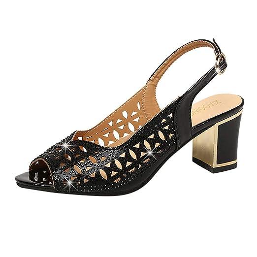 dd1d815258bd Amazon.com: Women Peep Toe Sandals,Ladies Summer Comfort Chunky ...