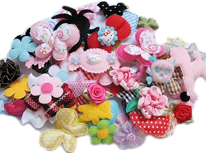 Artibetter Flower Embellishments Colorful Felt Fabric Appliques for Sewing Handcraft 200PCS