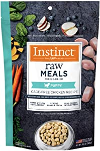 Instinct Freeze Dried Raw Meals for Puppies Grain Free Cage Free Chicken Recipe Dog Food by Nature's Variety, 9.5 oz. Bag