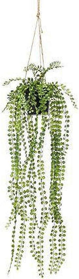 WhyShare Artificial Ficus Pumila - Arbusto colgante (60 cm)