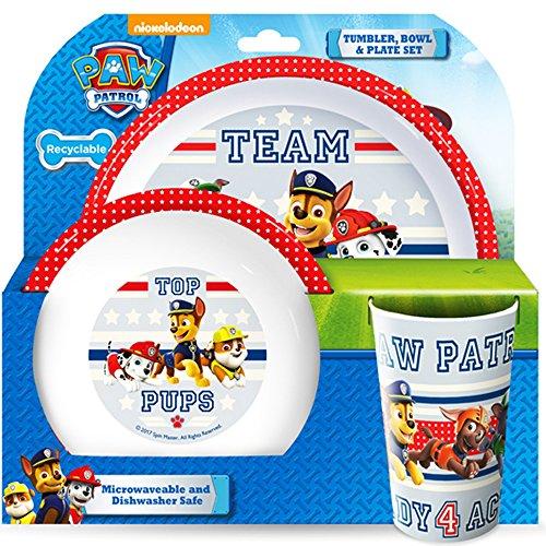 Paw Patrol Teamwork Tumbler, Bowl, Plate Set, Multi, Set Of 3 (1 1 Plate Girl)