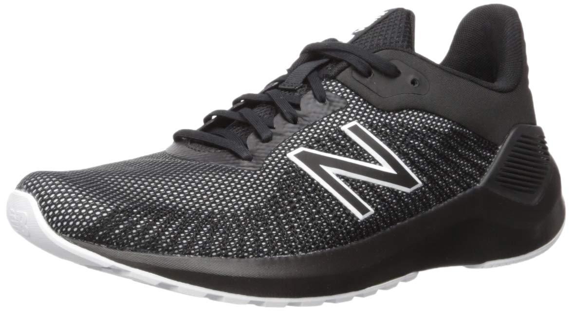 New Balance Men's VENTR V1 Running Shoe, Black/White, 12 4E US