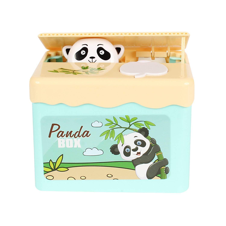 Cute Auto Electric Stealing Coin Bear Panda Money Storage Saving Box Bank