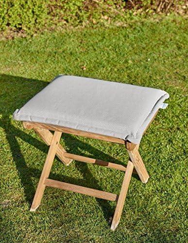 Cojín para sillón de jardín Arena 50 x 45 taburete reposapiés Sillón cojines acolchados Arena: Amazon.es: Jardín