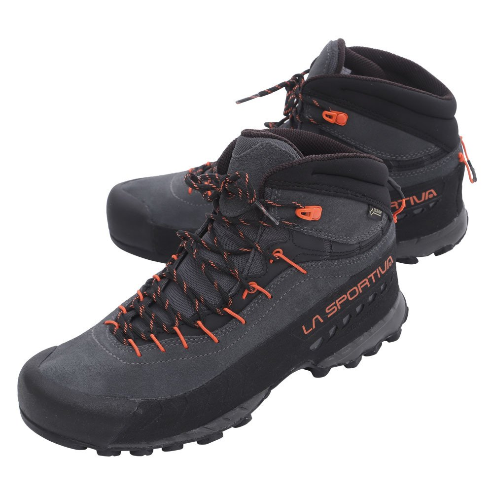 La Sportiva Unisex-Erwachsene Tx4 Mid GTX Carbon/Flame Trekking-& Wanderhalbschuhe, grau