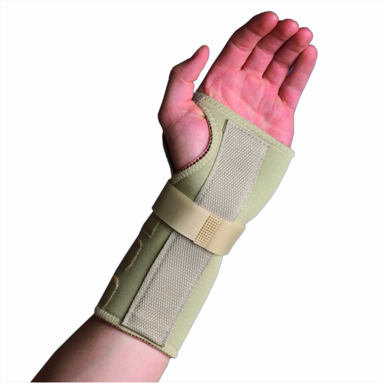 Thermoskin Wrist Brace, Hand Brace, Carpal Tunnel Brace with Dorsal Stay, Beige, Right, 4X-Large