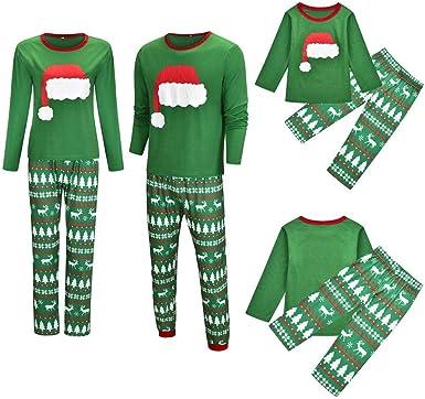 HOHOFAN Pijama de Dos Piezas Navidad, Pijamas para Hombres ...