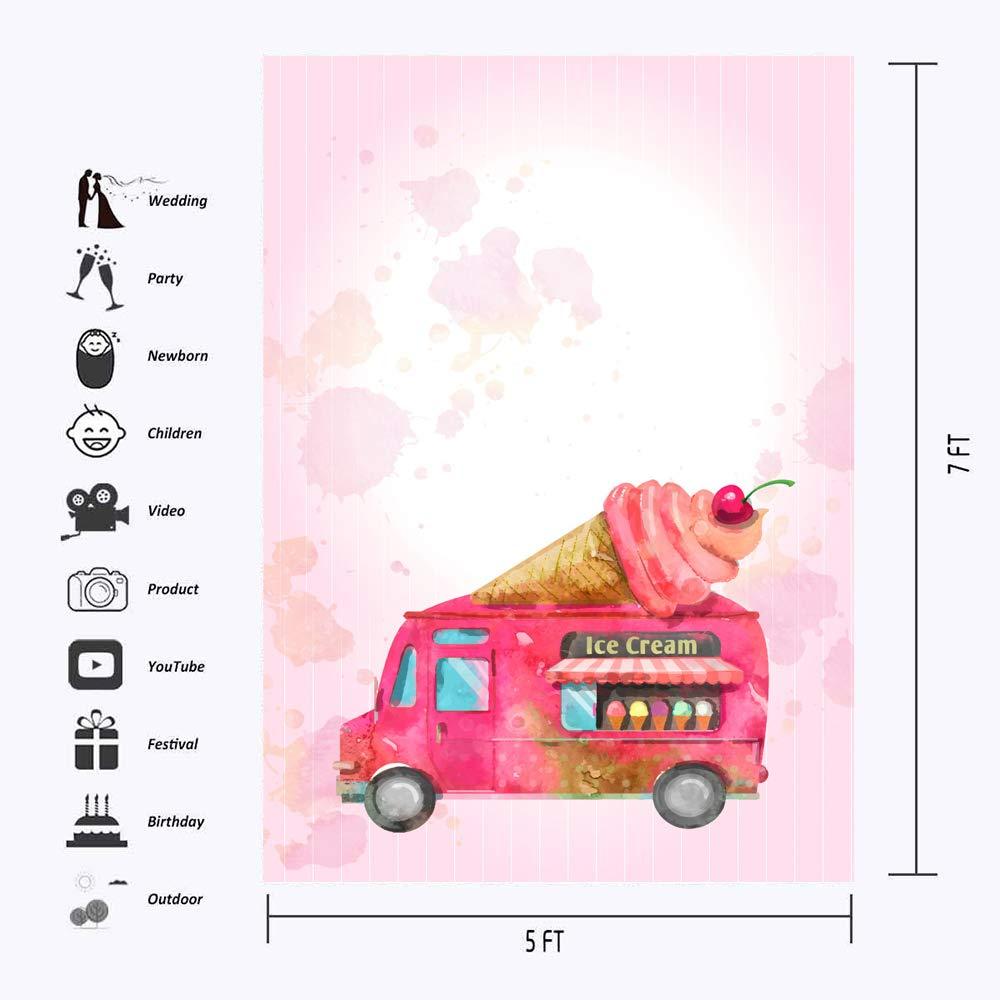 Telón de Fondo para fotografía de Camiones de Helado de 5 x ...