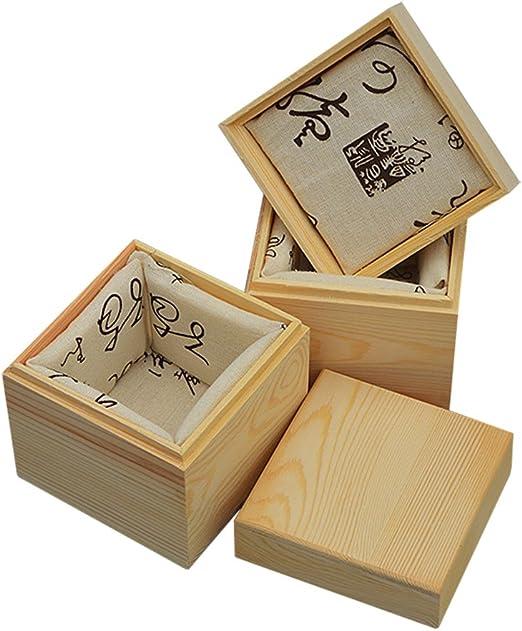 Kentop Caja de Regalo de Madera Organizador de Madera Maciza para Taza de té,11 * 11cm: Amazon.es: Hogar