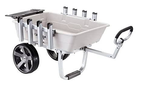 Image result for Gorilla Carts GCO-5FSH Poly Bed Fish & Marine Cart 200 lb Capacity, Gray