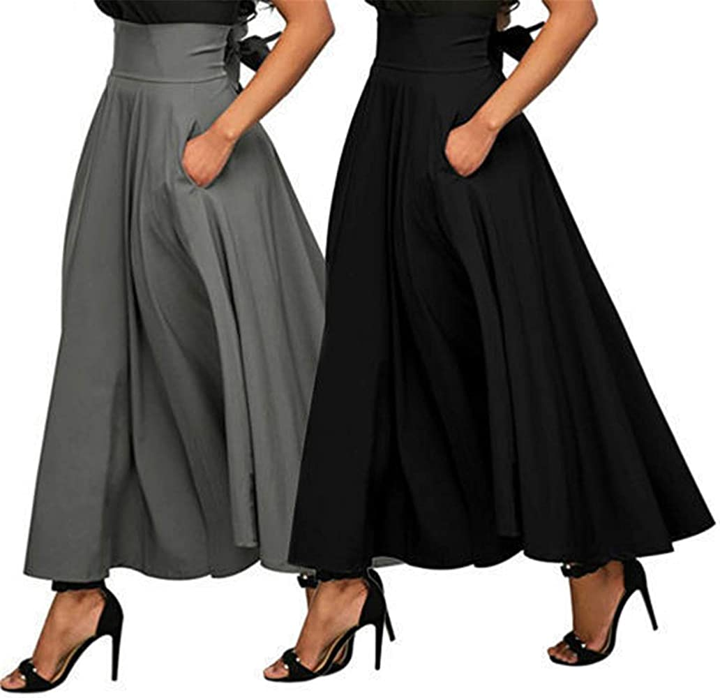Availcx-Sexy Long Skirt Falda de Moda de Verano para Mujer con ...