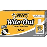 Amazon Price History for:BIC Wite-Out Quick Dry Correction Fluid - 3 Pack (BICWOFQD324)