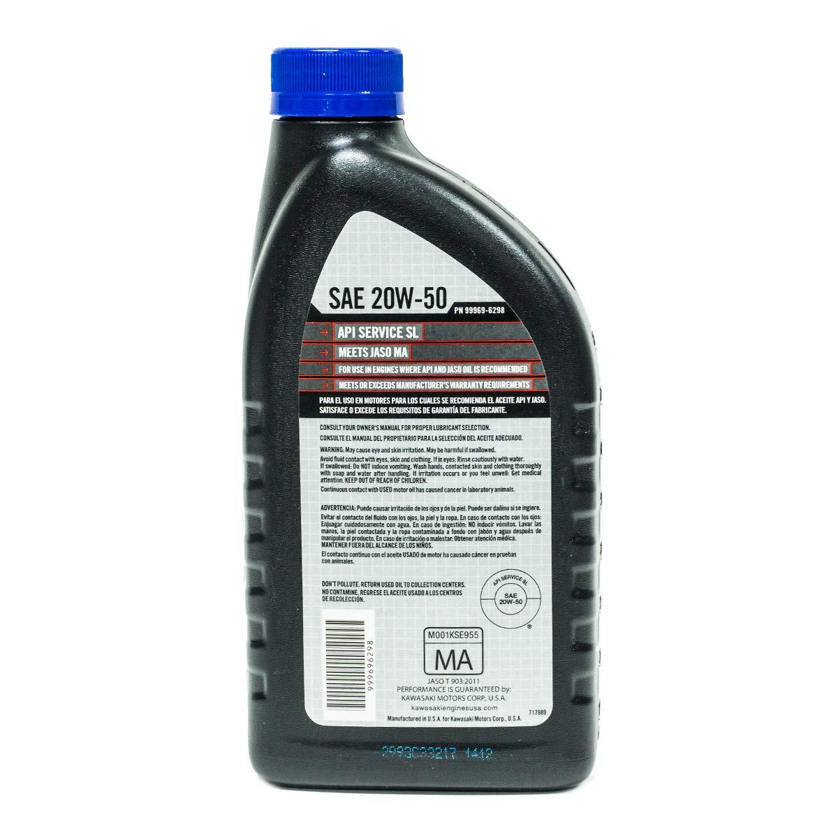 Amazon.com: 6PK OEM Kawasaki 20W50 Motor Engine Oil 99969-6298 & 49065-7007 Oil Filter Kit: Garden & Outdoor