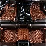 Gallop All Weather Protection Waterproof 3 Piece Full Set Floor Mats Leather Floor Liners Custom Fit Floor Carpets for Lexus ES 200 250 300 350 (Brown)