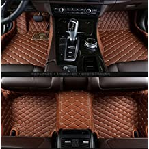 Gallop All Weather Protection Waterproof 3 Piece Full Set Floor Mats Leather Floor Liners Custom Fit Floor Carpets for Cadillac ATS (Brown)