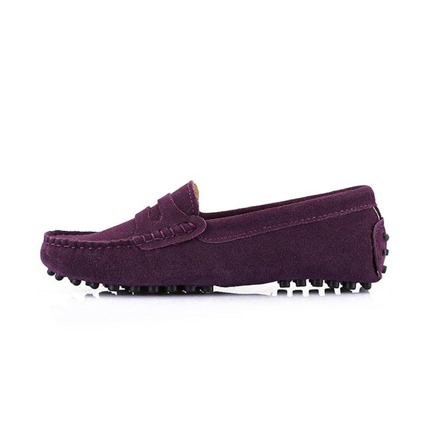 2018 New Women Flats Genuine Leather Driving Shoes Summer Women Casual Shoes B07DV3HHMW 7 B(M) US|Dark Purple